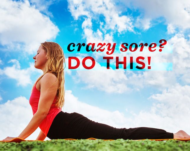 3 Exercises for When You're Really Freaking Sore Active recovery is key for sore muscles--or mobility and flexibility exercises that don't elevate your heart rate or put too much demand on your muscles—can help the recovery process of sore muscles a day or 2 after working out.