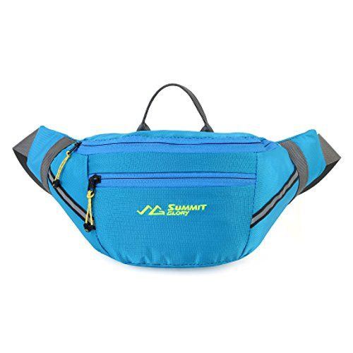 Summit Glory Fanny Pack Waterproof Waist Bag Waist Pack With Refective Stripe SkyBlue *** You can find out more details at the link of the image.(This is an Amazon affiliate link and I receive a commission for the sales)