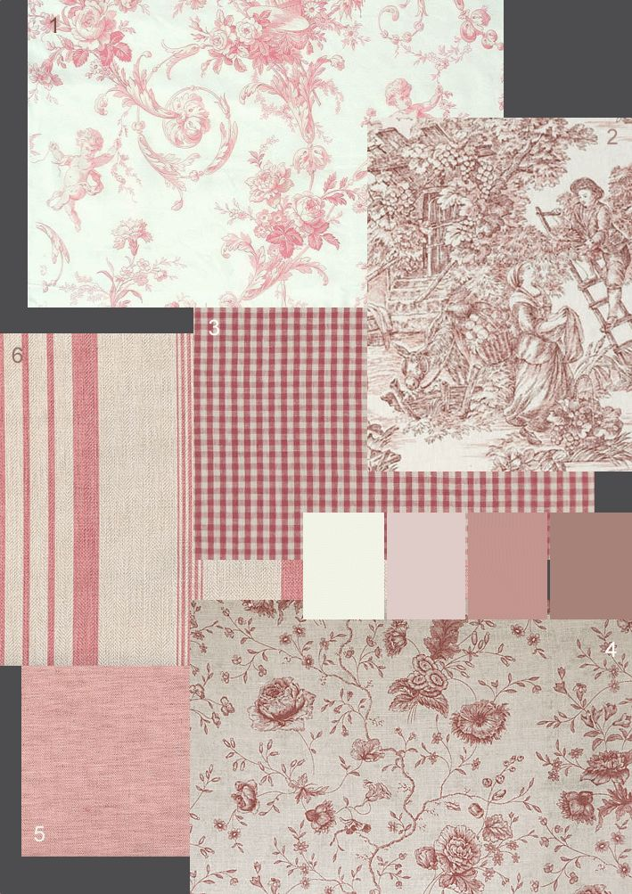 If I was to ever create a pink bedroom for Ouisie I like some of these fabrics.