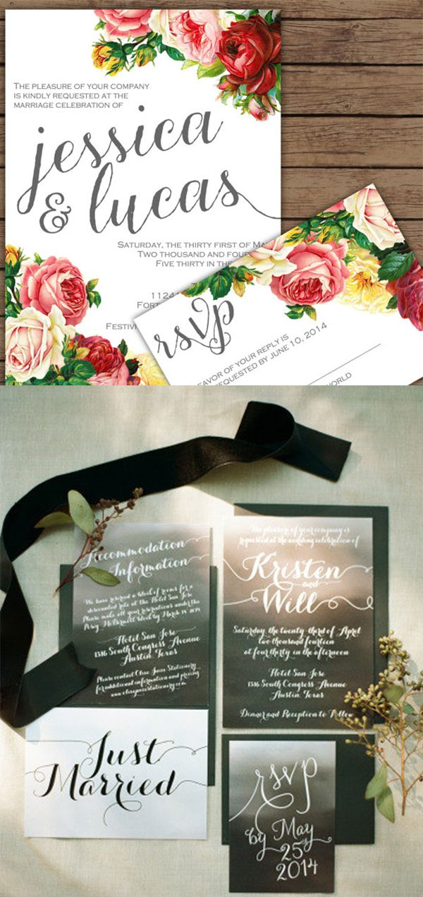 Olive Juice stationery -- this wedding stationery shop has it all! | http://www.weddingpartyapp.com/blog/2014/08/29/6-notable-etsy-wedding-invitation-designers/
