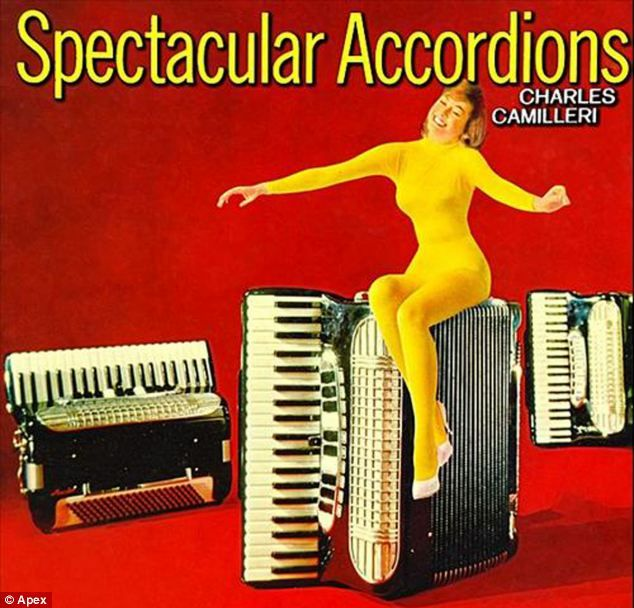 Spectacular Accordians is one of a number of album covers which features in record expert Robin Ash's list of the worst LP sleeves of all time