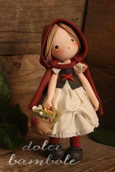 Dolci Bambole - Cappuccetto Rosso -Redridinghood-littleredridinghood-Porcellana Fredda