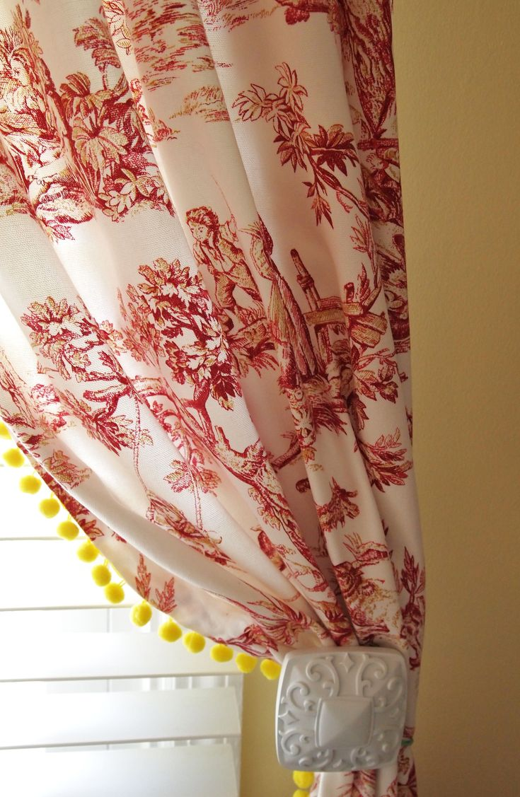 French country kitchen curtains - Red Toile French Country Curtain Decorating Ideas