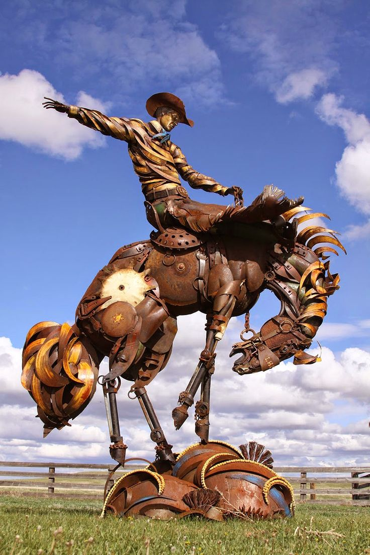 Best Art Of Recycling Images On Pinterest Horse Art Animal - Artist transforms scrap metal into amazing animal sculptures