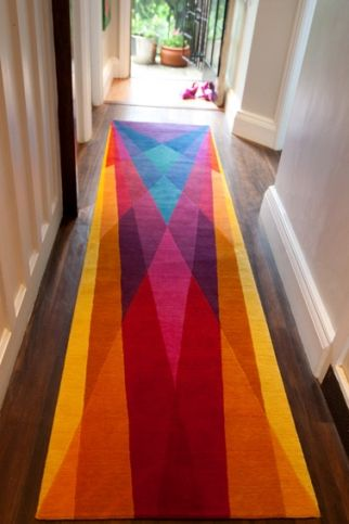 Colorful #Rug runner, welcome home