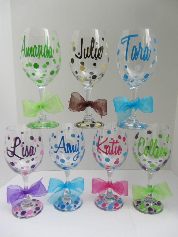 Extra large personalized wine glasses