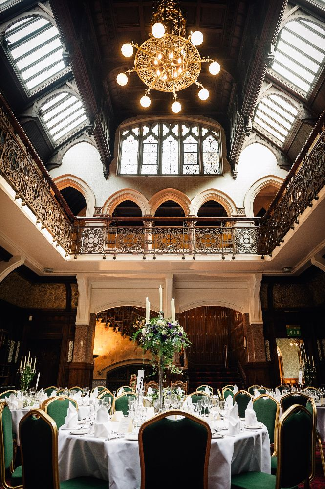 Eat your wedding breakfast in style at Highbury Hall; an historic building wedding venue near Moseley, West Midlands.