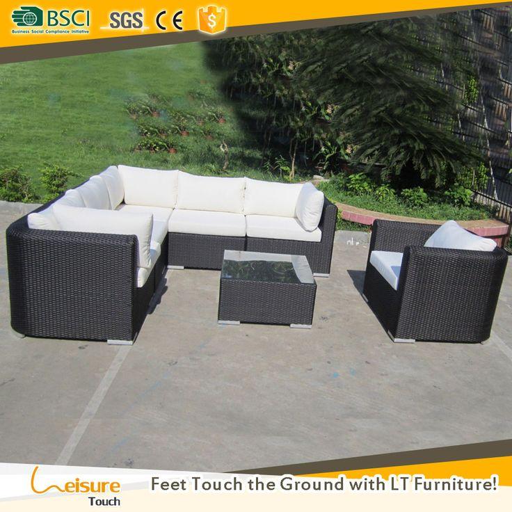 best deals cane garden furniture outdoor l shaped sofa corner rattan sectional sofa set
