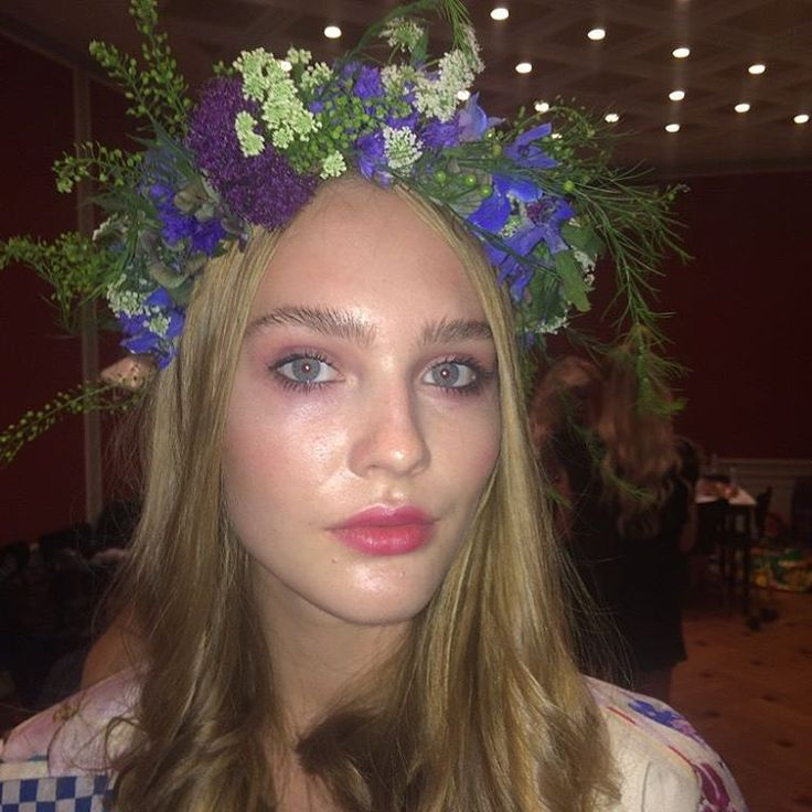 Colourful fairytale look by @sidselmarieboeg for Fashion Week @tatianatac @goshcosmetics #CPHFW #copenhagenfashionweek