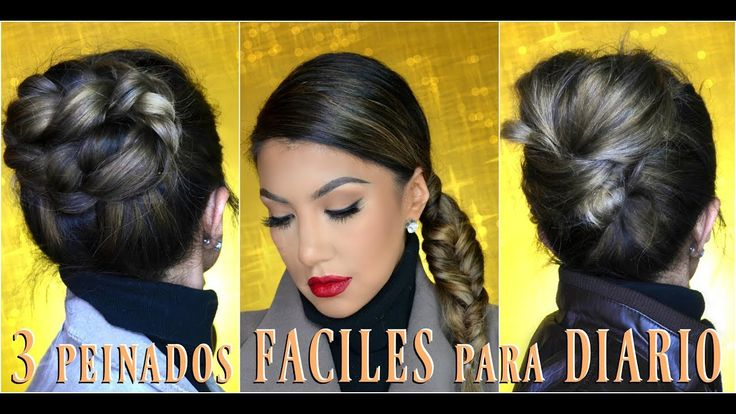 3 peinados FACILES para DIARIO👑 / 3 EASY everyday hairstyles tutorial| a...