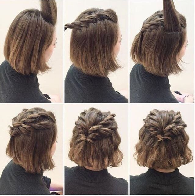 Step By Step Braid Hairstyle To Style With Any Look Be It Casual Or Formal Or Elegant Cute Hairstyles For Short Hair Braided Crown Hairstyles Short Hair Styles