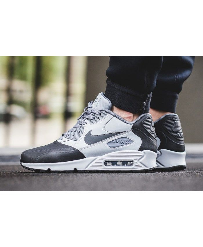 b066b62d6bbcff Nike Air Max 90 Premium Se Wolf Grey Trainer Mens Sale UK | Кеды | Nike air  max, Cheap nike air max, Air max