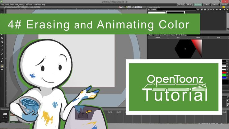 OpenToonz Tutorial #4 - Erasing and Animating Color