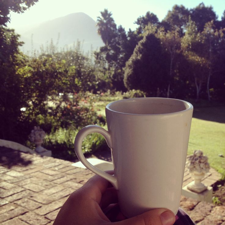 Coffee to start the day in Greyton.
