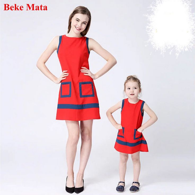 Beke Mata Mother Daughter Dresses 2017 Summer Graffiti Family Look Mother And Daughter Clothes Party Family Matching Clothing #Affiliate