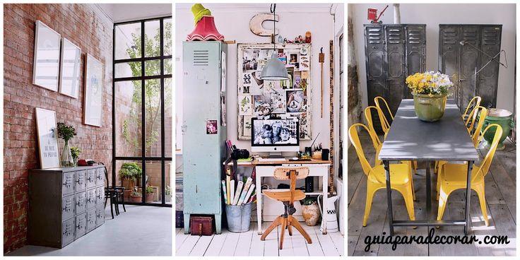 Con estas 15 ideas para decorar con armarios metálicos tendréis una buena fuente de inspiración si te tienta la idea de usar estos modernos complementos.