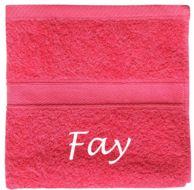 Een leuke handdoek met naam voor een vriendin.