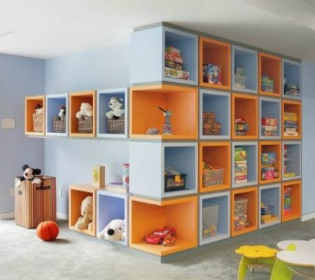 Creative Ideas For Furniture And Optimized Spaces In Kids Room Where To  Storage A Large Amount Of Children Toys, Books, Clothes And Other Stuff.