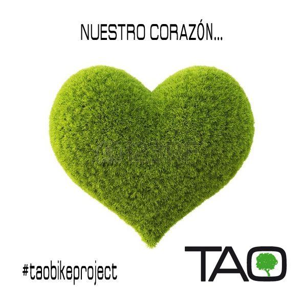 Nuestra filosofía...El corazón de TAO late en verde...  Our philosophy...TAO heart is beating in green color. Green heart