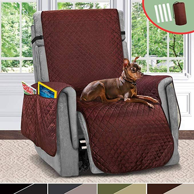 Amazon Com Vailge Large Reversible Recliner Cover Recliner Slipcover With 2 Strap Pocket Chair Cove Recliner Cover Recliner Chair Covers Recliner Slipcover