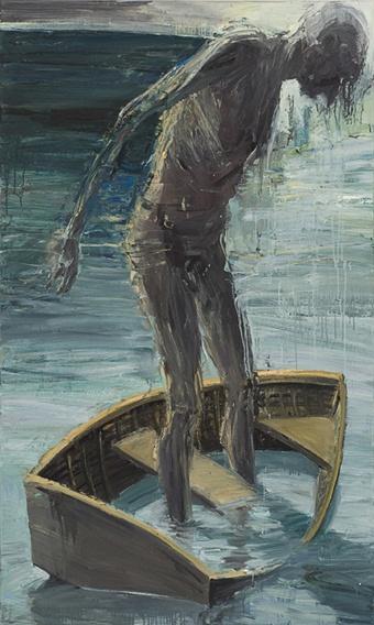 Euan McLeod.Rocking the Boat. 2007-8 Oil on polycanvas 173 x 104cm