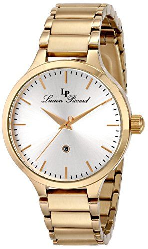 """Lucien Piccard Women's LP-12917-YG-22S """"Lleida"""" Stainless Steel Watch Lucien Piccard http://www.amazon.com/dp/B00IJ2FVX2/?tag=newestcellp01-20"""