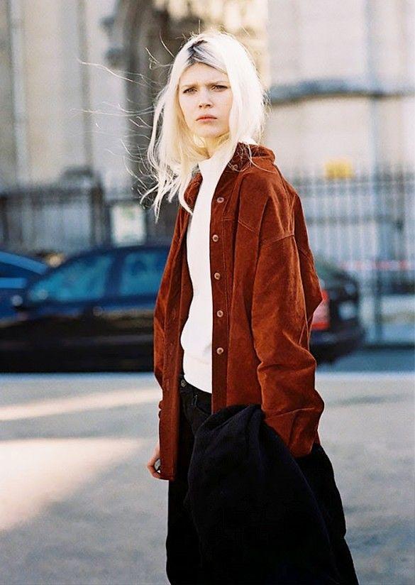 Inspiration street style veste en daim