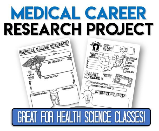 Medical Career Research Project Great For Health Science Classes Medical Careers Health Careers Health Science Classroom