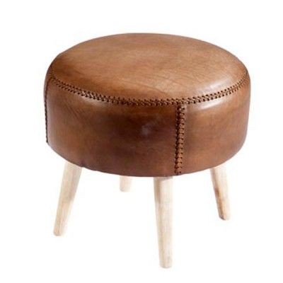Round Leather Footstool a cognac-colored leather?  sc 1 st  Pinterest & 56 best Ottoman pouffs footstool images on Pinterest | Ottomans ... islam-shia.org