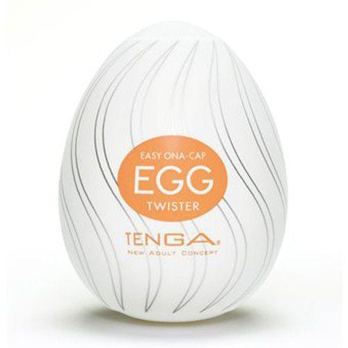 Tenga - Egg TwisterMasturbators in de vorm van een ei. De Egg Twister heeft van binnen een structuur van gedraaide ribbels voor een bijzondere stimulatie.Revolutionair concept van het merk Tenga. In het ei zit een masturbator van topkwaliteit verborgen, die jou een gevoel zal bezorgen zoals je dit nog nooit hebt ervaren. Het ei is volledig over de penis heen te trekken en door het flexibele materiaal geschikt voor alle lengtes. Glijmiddel wordt bijgeleverd. De Tenga Egg's zijn bedoeld voo...