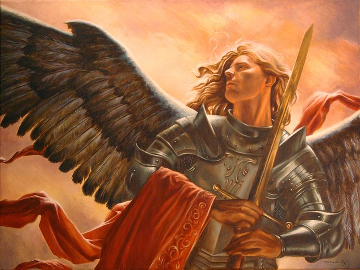Aleksandra Zając, oil painting, Michael Archangel