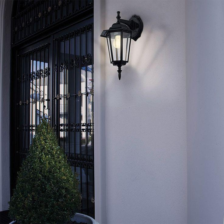 LATERNA - Applique d'extérieur Descendante Noir H35cm Eglo