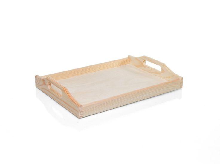 Dřevěný servírovací podnos střední