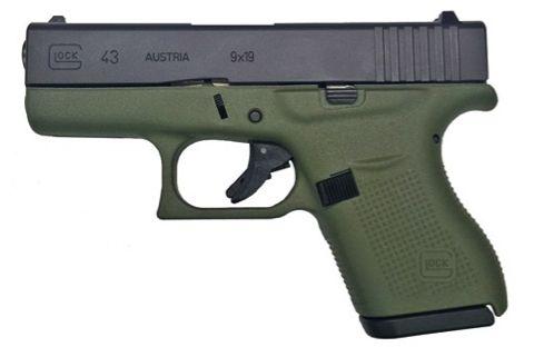 New GLOCK 43 9mm Handgun - Battle Field Green