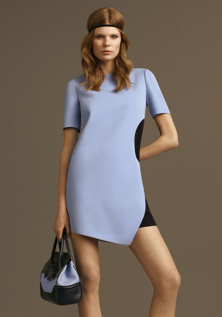 Get your Monday started in style with a bold #Versace side contrast dress: goo.gl/oIZCFL #7D7D