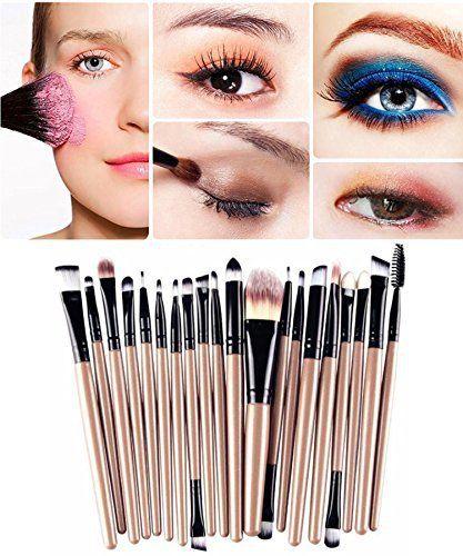 Demarkt Professionnel 20 pcs/set Pinceau de Maquillage Fondation Outils Ombre à Paupières Eyeliner Lip Sourcils Pinceau Maquillage:…