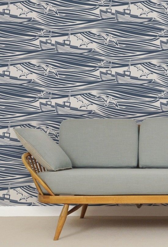 Top 10 wallpapers Mini Moderns Whitby wallpaper washed denim www.apartmentapothecary.com