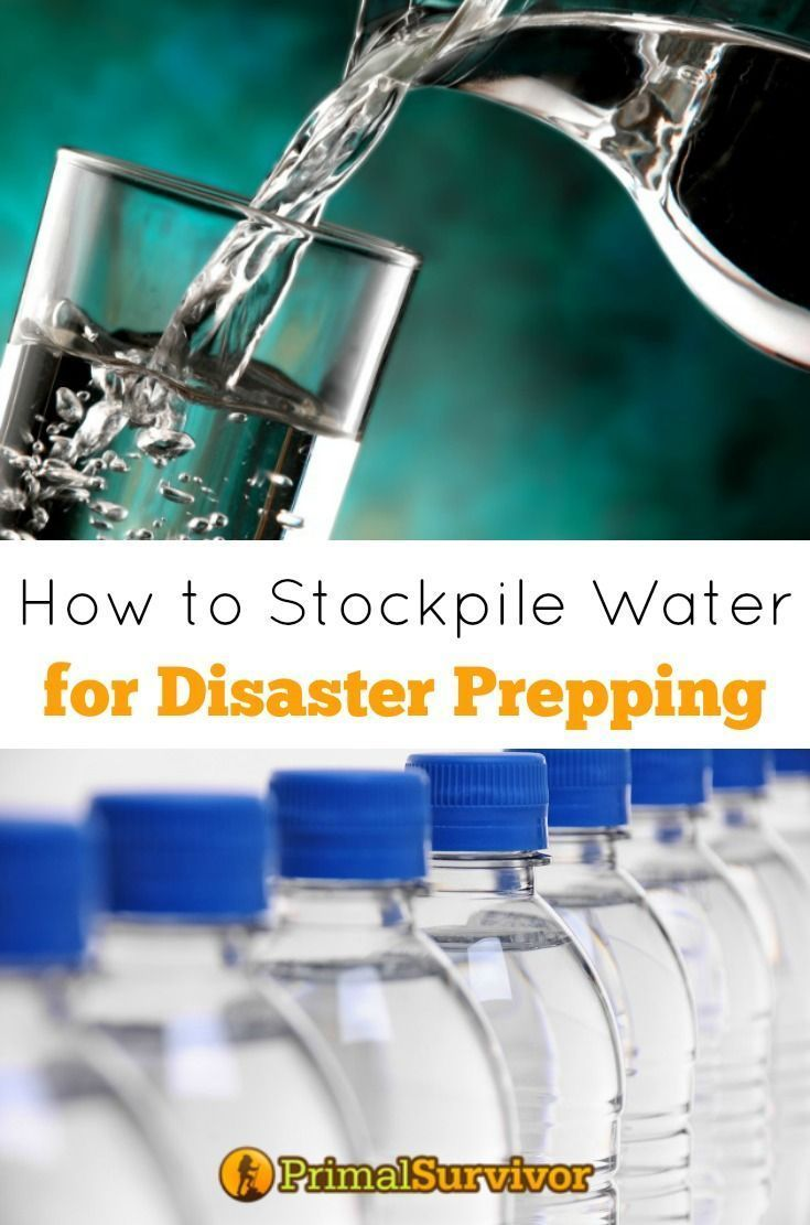 How to Stockpile Emergency Water for Disaster Prepping. A lot of people don't realize how susceptible our water supply is to disaster. Even during small emergencies like storms or blizzards, the power can go out – which means that the water treatment facilities stop working. During large disasters, the water supply stops completely. This is why it is so important to have a supply of emergency water.