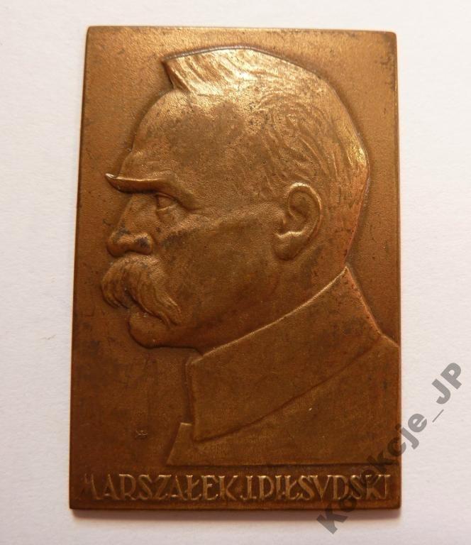 Plakieta Mennicy Pań. J. Piłsudski 40x27mm. (697)