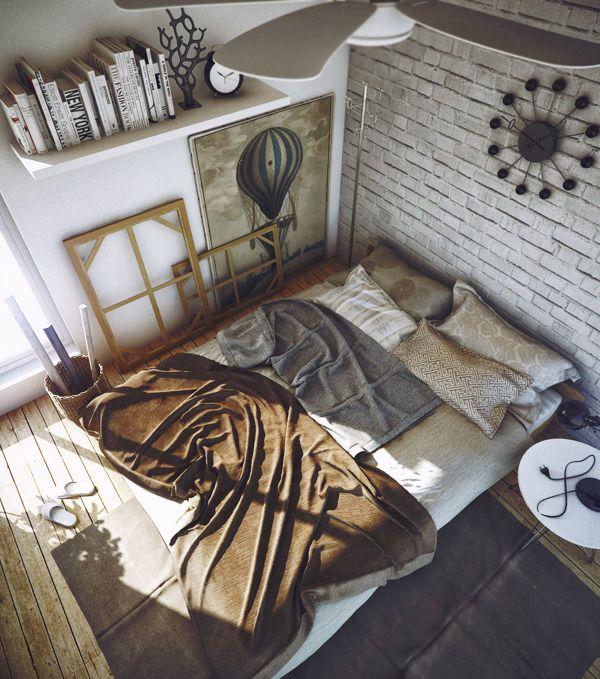 Mess Bedroom by Ngurah Arya, via Behance