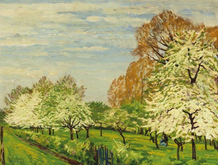 Max Clarenbach, BLÜHENDE OBSTBÄUME, Auktion 969 Alte Kunst, Lot 1289