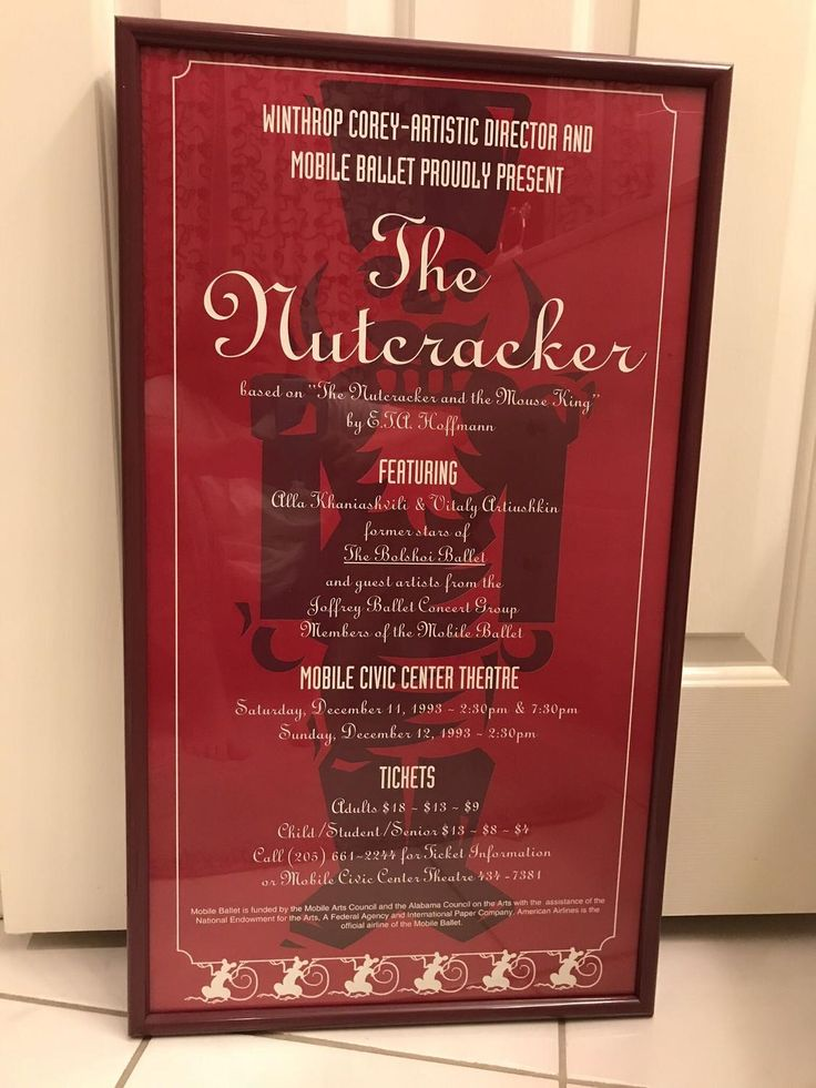 Best Framed Poster From The Nutcracker 1993 - Winthrop Corey Artistic Director for sale in Mobile, Alabama for 2018