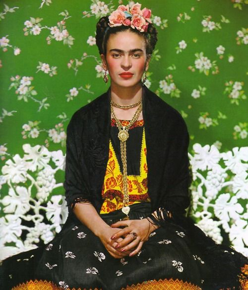 Frida Kahlo - the photograph that ran on the cover of Vogue Paris during her lifetime.