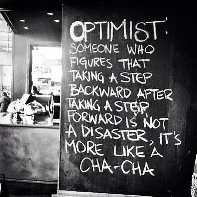 Time to dance into another week and let every step be a reminder to stay positive. It's more important keep moving than to be afraid of making a mistake. Progress not perfection . . . http://www.yvonnelieblein.com/one-two-cha-cha-cha/