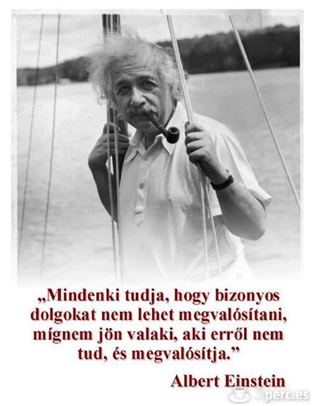 Albert Einstein motiváló idézete a dolgok megvalósításáról. A kép forrása: 5perc.es