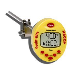 http://www.termometer.se/Cool-it-Rite.html  Cool-it-Rite  Cool-it-Rite är en award-winner i USA för att mäta avsvalningstemperatur i livsmedel. När livsmedel ska kylas, stoppar du ner instrumentets givare i kärlet och startar den inbyggda timern med en knapptryckning. Cool-it-Rite mäter sedan temperaturen i livsmedlet under avsvalningsfasen...