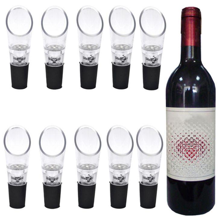 10Pcs Magic Wine Decanter,Red Wine Aerator Filter Wine Essential EquipmentDeluxe Essential Red Wine Aerator Magic Decanter New