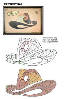 Cowboy Hat Iris Fold Card