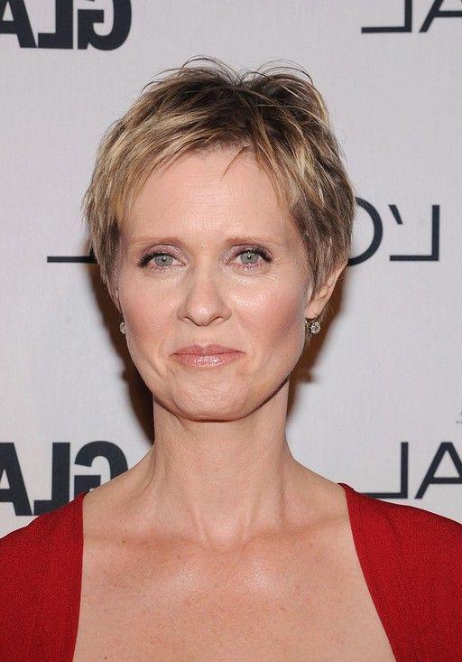 Cynthia Nixon Short Pixie Haircut For Women Over 50 In