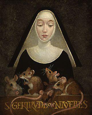 St. Gertrude of Nivelles Patron Saint of Cats.  I did not know there WAS a patron saint of cats!!